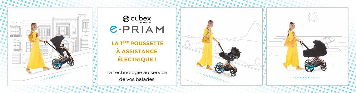 e-Priam, la première poussette à assistance électrique par Cybex ! La technologie au service de vos balades...