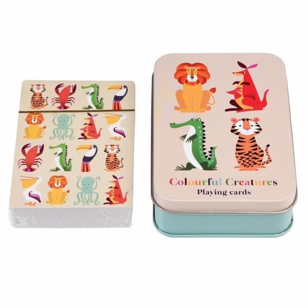Cartes à jouer Colorful creatures avec boîte