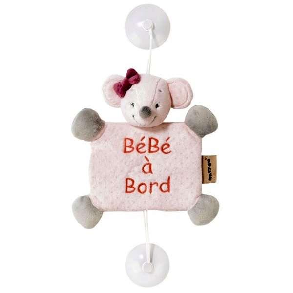 Bébé à bord Valentine la souris