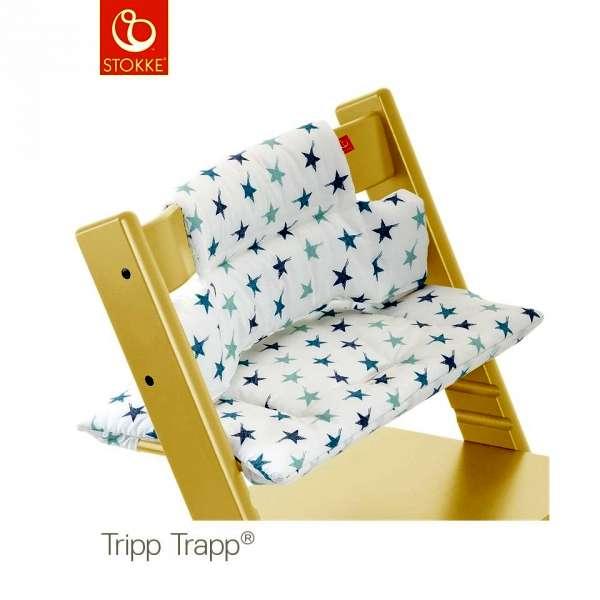 Coussin chaise haute Tripp Trapp Etoiles bleues