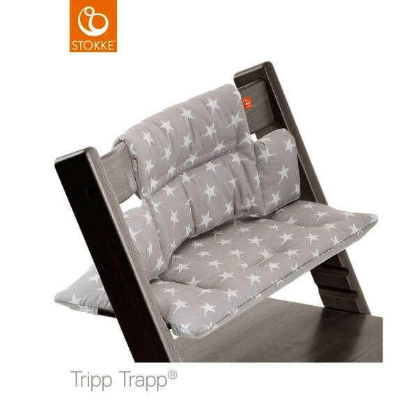 Coussin chaise haute Tripp Trapp Etoiles grises