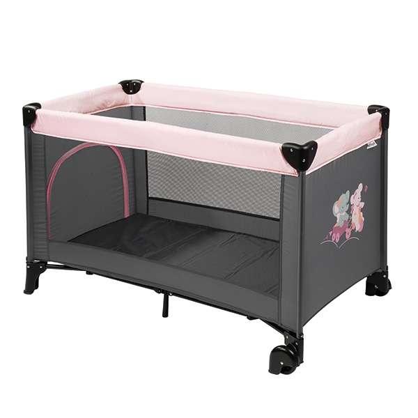Lit pliant bébé avec roulettes Adèle & Valentine