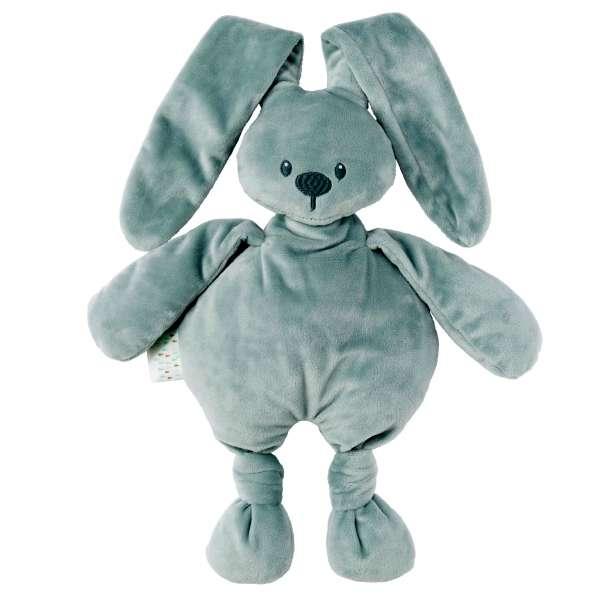 Doudou lapin vert de gris Lapidou