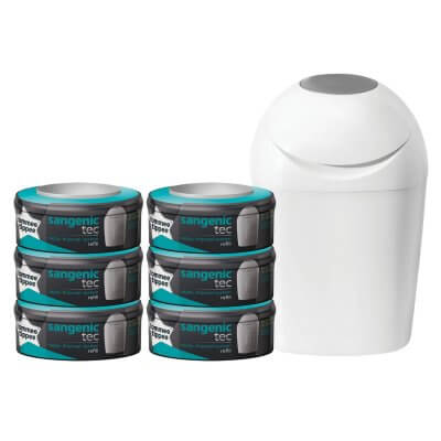 Starter Pack Tec Blanc (1 bac à couches + 6 recharges)