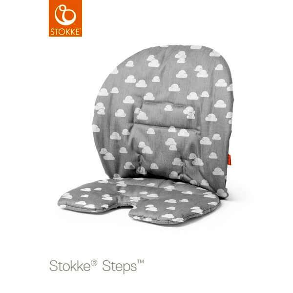 Coussin chaise haute Steps Nuage gris
