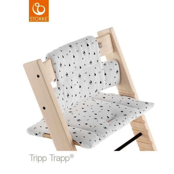 Coussin chaise haute Tripp Trapp Montagne blanche