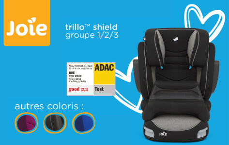 Joie Trillo Shield, le siège auto bébé 1/2/3 au meilleur rapport qualité prix.