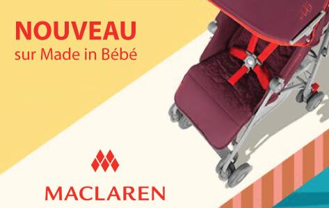 Poussette et accessoires Maclaren, nouveau sur Made in Bébé