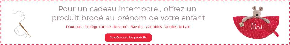 Pour un cadeau intemporel, offrez un produit personnalisé Moulin Roty à votre enfant