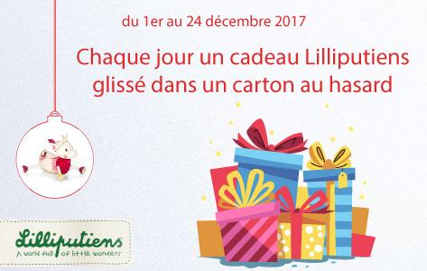 En décembre, chaque jour un cadeau Lilliputiens sera glissé dans un carton