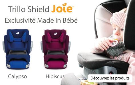 Joie Trillo Shield et Trillo Luxx, les sièges auto bébé 1/2/3 et 2/3 au meilleur rapport qualité prix.