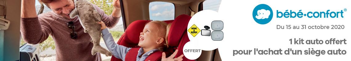 Un kit auto offert pour l'achat d'un siège auto Bébé Confort