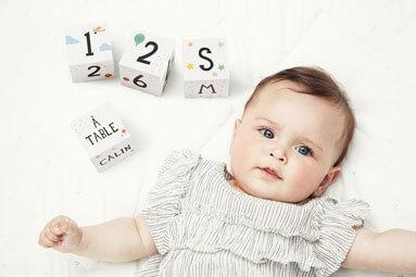 cubes premeirs moment de bébé